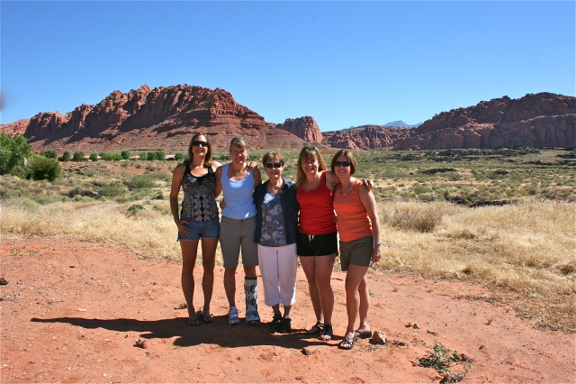 my mom and sisters last year at Red Rock Mountain Spa