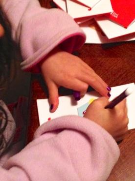 Ava writing