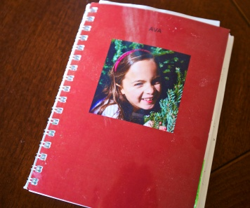One of her journals given as a gift at Christmas from her Auntie Erin