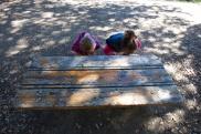 hmmm, what's under this bench